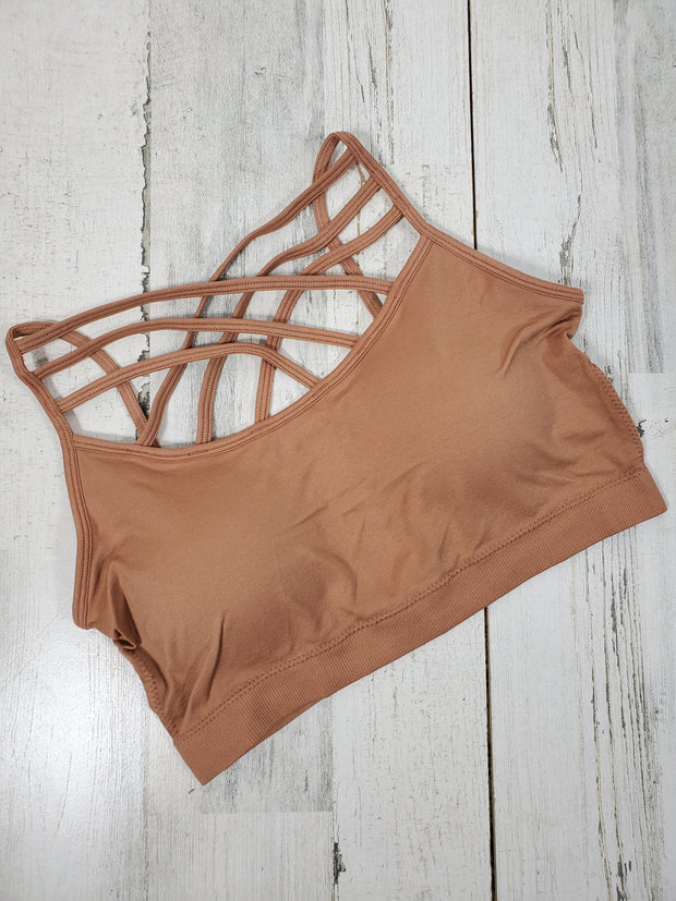 Seamless Triple Criss-Cross Front Bralette