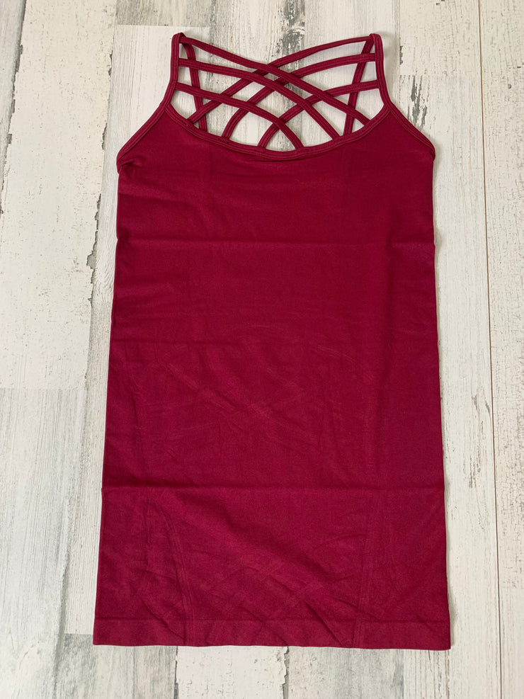 Buttery Soft Criss Cross Tank Top