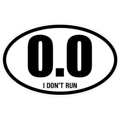 Personalized 0.0 Marathon Oval Decal-Custom / Personalized-Decal Venue