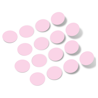 Baby Pink Polka Dot Circles Wall Decals