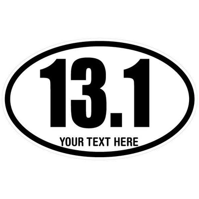 Personalized 13.1 Marathon Oval Decal | Custom / Personalized | DecalVenue.com