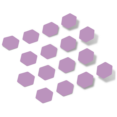 Lilac Hexagon Vinyl Wall Decals