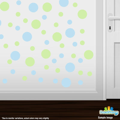 Baby Blue / Baby Green Polka Dot Circles Wall Decals-Polka Dot Circles-Decal Venue