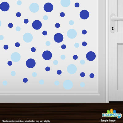 Baby Blue / Blue Polka Dot Circles Wall Decals-Polka Dot Circles-Decal Venue