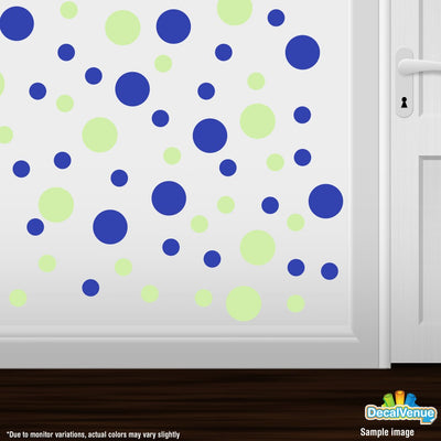 Baby Green / Blue Polka Dot Circles Wall Decals-Polka Dot Circles-Decal Venue