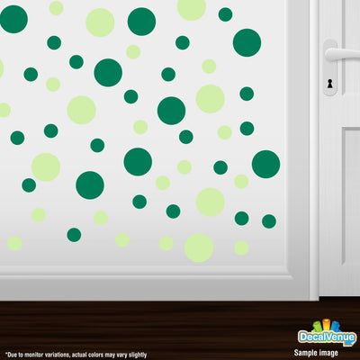 Baby Green / Green Polka Dot Circles Wall Decals | Polka Dot Circles | DecalVenue.com