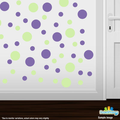 Baby Green / Lavender Polka Dot Circles Wall Decals-Polka Dot Circles-Decal Venue