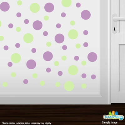 Baby Green / Lilac Polka Dot Circles Wall Decals-Polka Dot Circles-Decal Venue