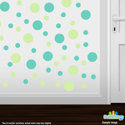Baby Green / Mint Green Polka Dot Circles Wall Decals | Polka Dot Circles | DecalVenue.com