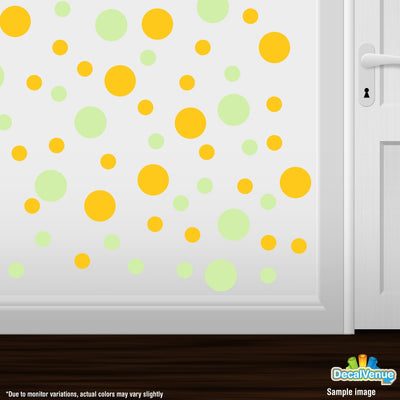 Baby Green / Yellow Polka Dot Circles Wall Decals-Polka Dot Circles-Decal Venue
