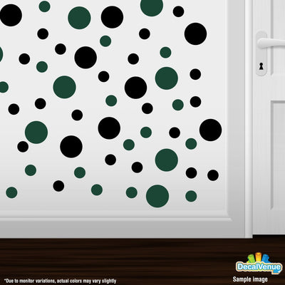 Black / Dark Green Polka Dot Circles Wall Decals-Polka Dot Circles-Decal Venue
