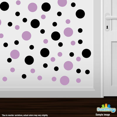 Black / Lilac Polka Dot Circles Wall Decals-Polka Dot Circles-Decal Venue