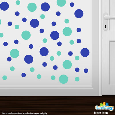 Blue / Mint Green Polka Dot Circles Wall Decals-Polka Dot Circles-Decal Venue
