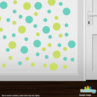 Chartreuse / Mint Green Polka Dot Circles Wall Decals-Polka Dot Circles-Decal Venue