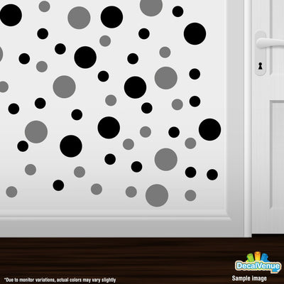 Black / Grey Circle Polka Dots Decal Stickers | Decal Venue