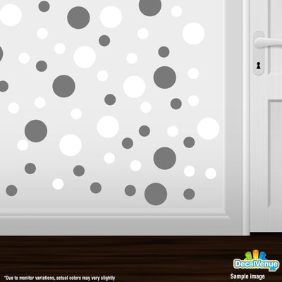 Grey / White Polka Dot Circles Wall Decals-Polka Dot Circles-Decal Venue
