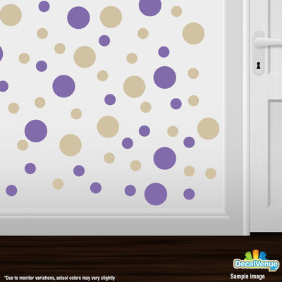 Lavender / Beige Polka Dot Circles Wall Decals-Polka Dot Circles-Decal Venue