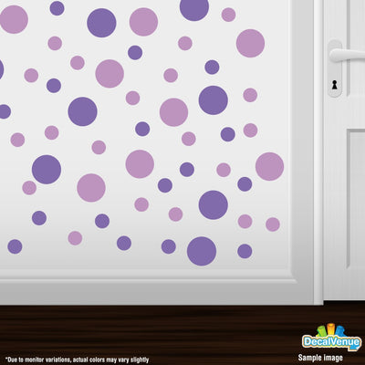 Lavender / Lilac Polka Dot Circles Wall Decals | Polka Dot Circles | DecalVenue.com
