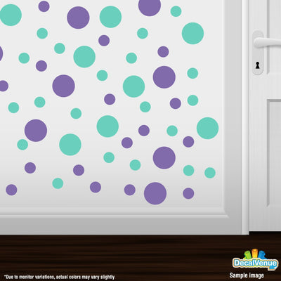 Lavender / Mint Green Polka Dot Circles Wall Decals | Polka Dot Circles | DecalVenue.com