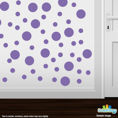 Lavender Polka Dot Circles Wall Decals | Polka Dot Circles | DecalVenue.com