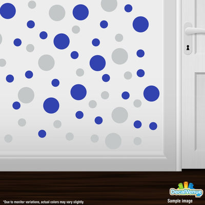 Light Grey / Blue Polka Dot Circles Wall Decals | Polka Dot Circles | DecalVenue.com