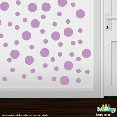 Lilac Polka Dot Circles Wall Decals | Polka Dot Circles | DecalVenue.com