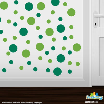 Lime Green / Green Polka Dot Circles Wall Decals-Polka Dot Circles-Decal Venue