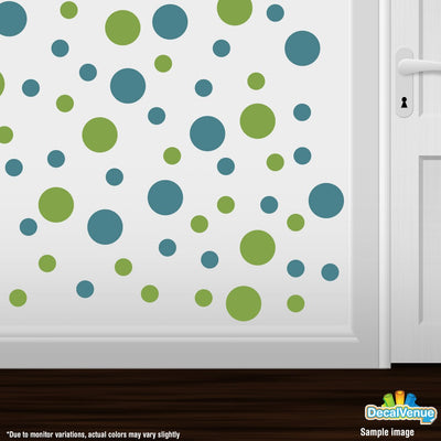Lime Green / Turquoise Circle Polka Dots Decal Stickers | Decal Venue