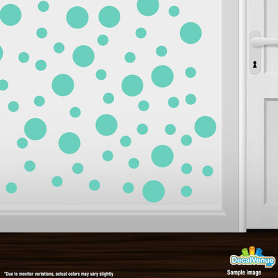 Mint Green Polka Dot Circles Wall Decals-Polka Dot Circles-Decal Venue