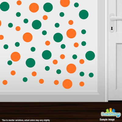 Orange / Green Polka Dot Circles Wall Decals-Polka Dot Circles-Decal Venue