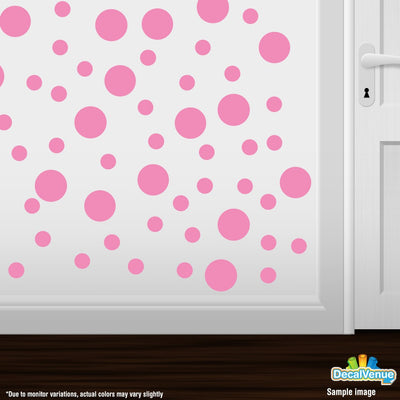 Pink Polka Dot Circles Wall Decals-Polka Dot Circles-Decal Venue