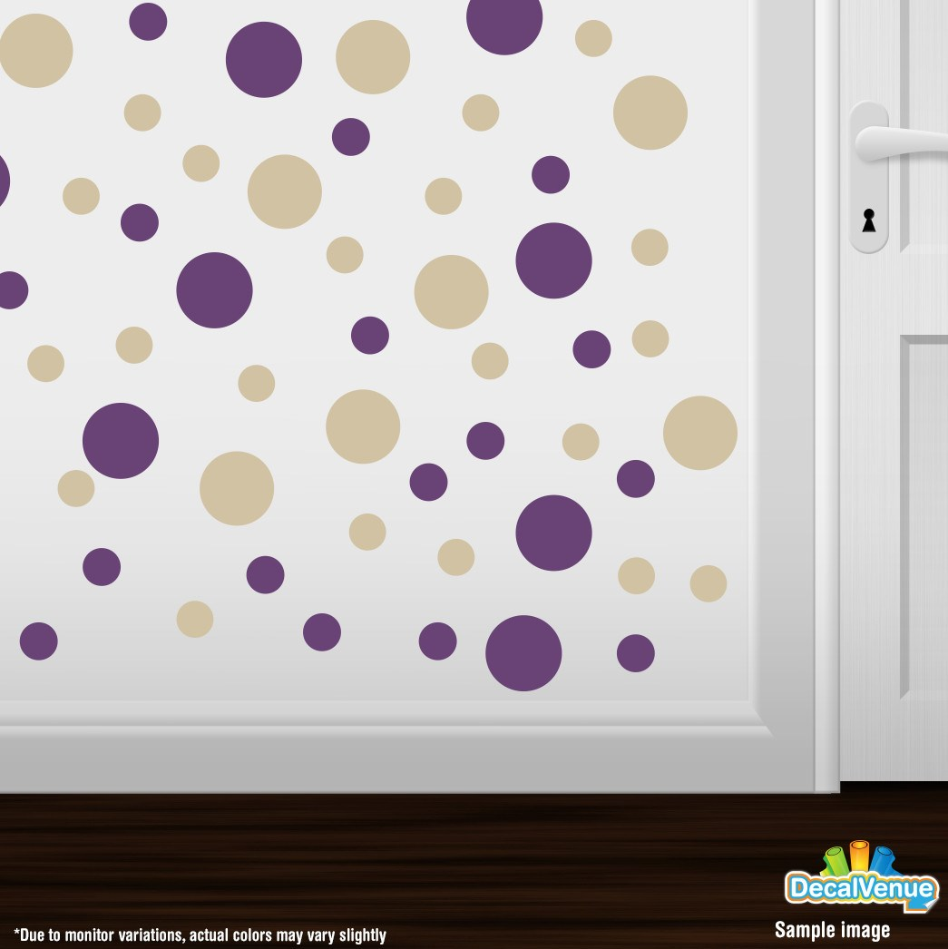 Purple / Beige Polka Dot Circles Wall Decals-Polka Dot Circles-Decal Venue  sc 1 st  Decal Venue & Purple / Beige Polka Dot Circles Wall Decals
