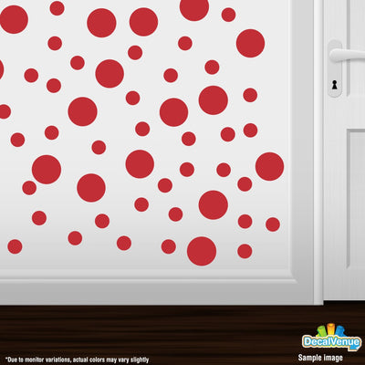 Red Polka Dot Circles Wall Decals | Polka Dot Circles | DecalVenue.com