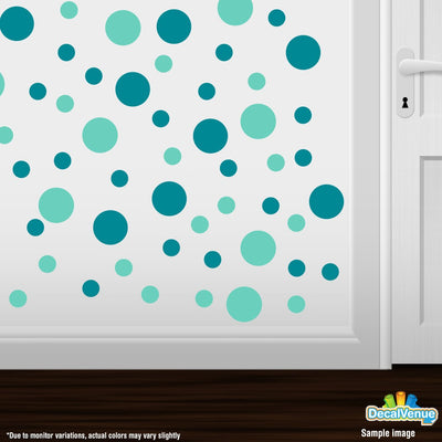 Turquoise / Mint Green Polka Dot Circles Wall Decals-Polka Dot Circles-Decal Venue