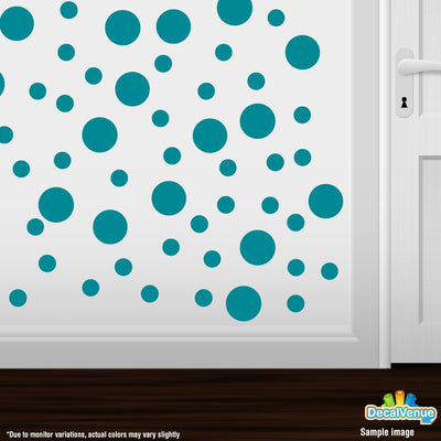 Turquoise Polka Dot Circles Wall Decals-Polka Dot Circles-Decal Venue