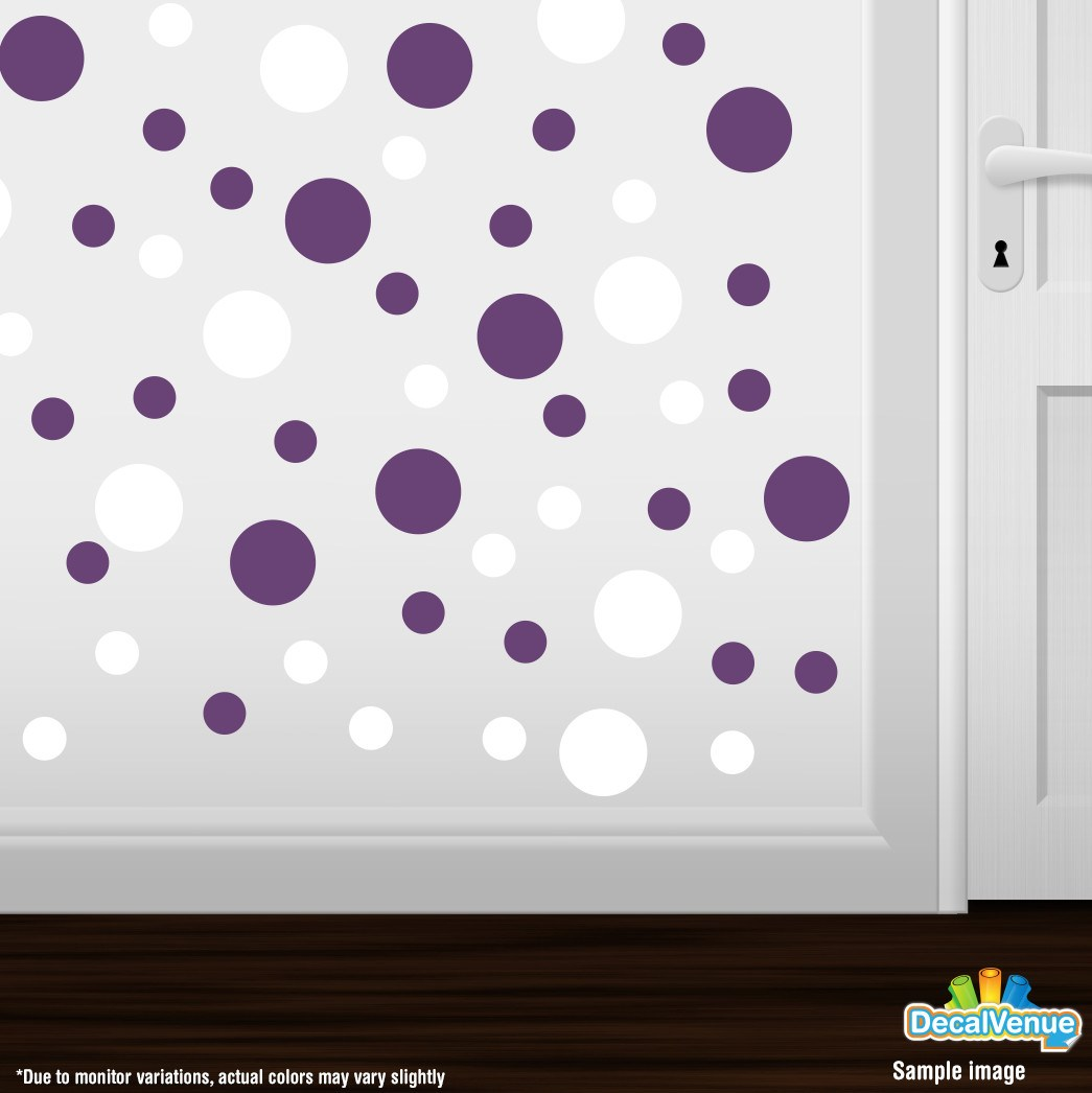 White / Purple Polka Dot Circles Wall Decals-Polka Dot Circles-Decal Venue  sc 1 st  Decal Venue : wall decals polka dots - www.pureclipart.com