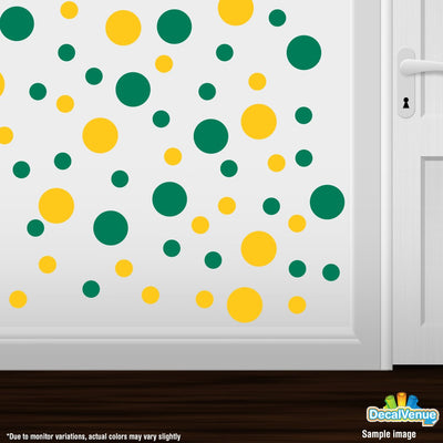 Yellow / Green Polka Dot Circles Wall Decals-Polka Dot Circles-Decal Venue