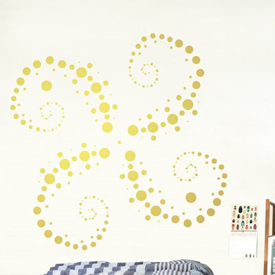 Set of 251 Metallic Gold Polka Dot Circles Wall Decals | Polka Dot Circles | DecalVenue.com