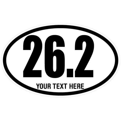Personalized 26.2 Marathon Oval Decal | Custom / Personalized | DecalVenue.com