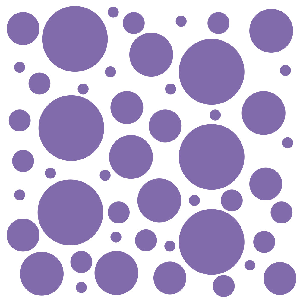 Set of 300 Polka Dot Circles Vinyl Wall Decals Stickers - Assorted Sizes