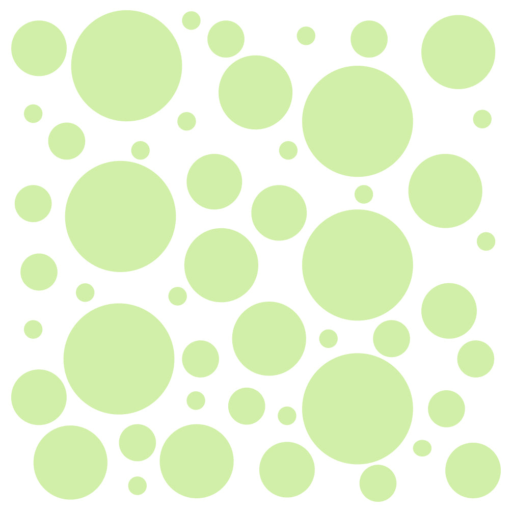 Set of 100 Polka Dot Circles Vinyl Wall Decals Stickers - Assorted Sizes