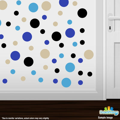 Beige / Blue / Black / Ice Blue Polka Dot Circles Wall Decals-Polka Dot Circles-Decal Venue