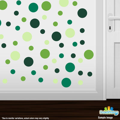Lime Green / Dark Green / Green / Baby Green Polka Dot Circles Wall Decals | Polka Dot Circles | DecalVenue.com