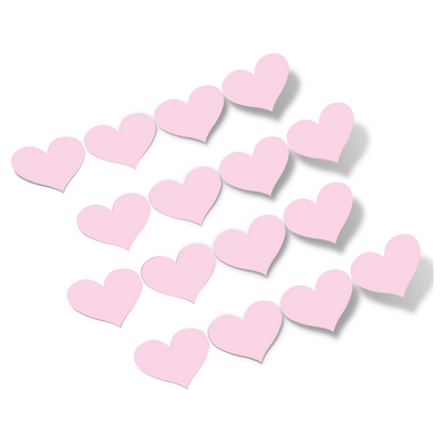 Baby Pink Hearts Vinyl Wall Decals