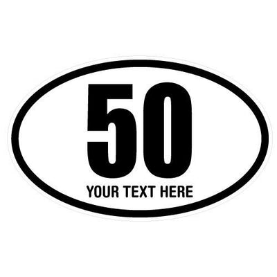 Personalized 50 Miles Oval Decal-Custom / Personalized-Decal Venue
