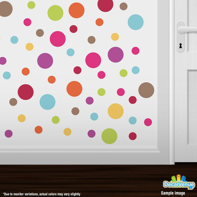 Serendipity Circle Polka Dot Reusable Wall Decals | Polka Dot Circles | DecalVenue.com