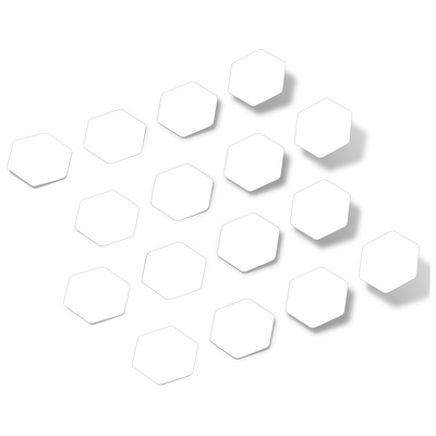 White Hexagon Vinyl Wall Decals