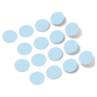 Baby Blue Polka Dot Circles Wall Decals