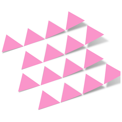 Pink Triangles Vinyl Wall Decals