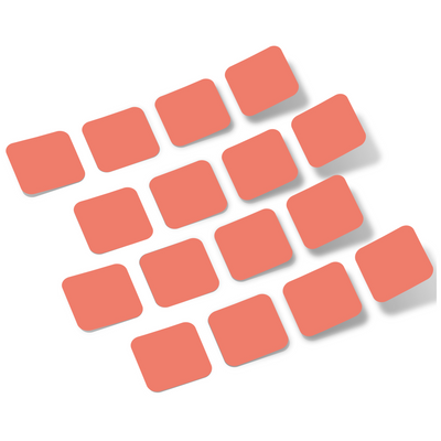 Coral Rounded Squares Vinyl Wall Decals
